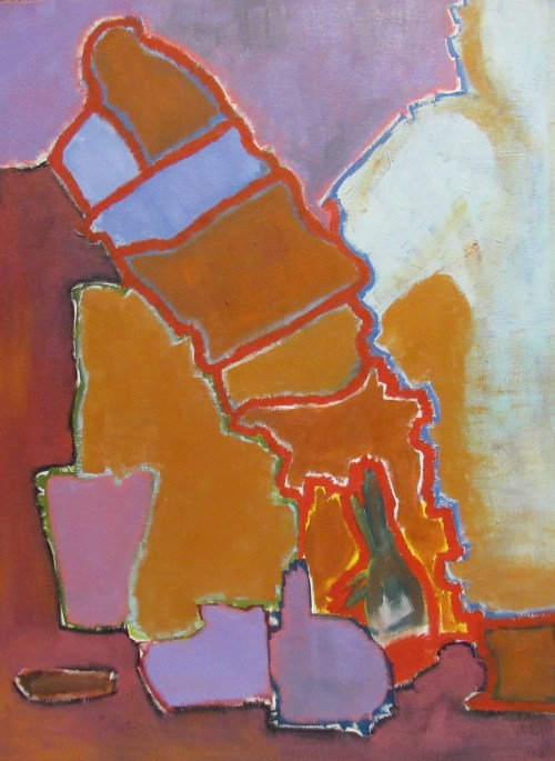 Oil painting of abstract figure
