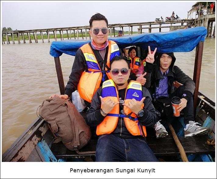 penyeberangan sungai kunyit temajo bay resort