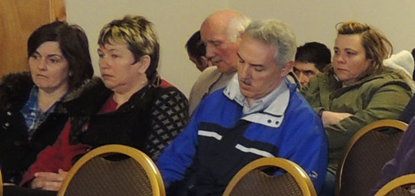 Locals at Monday night's crunch meeting in Gleneely.