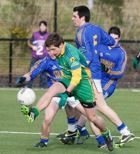 Darach O'Connor in action against Patrician College Carrickmacross in the Mac Larnon Cup semi final