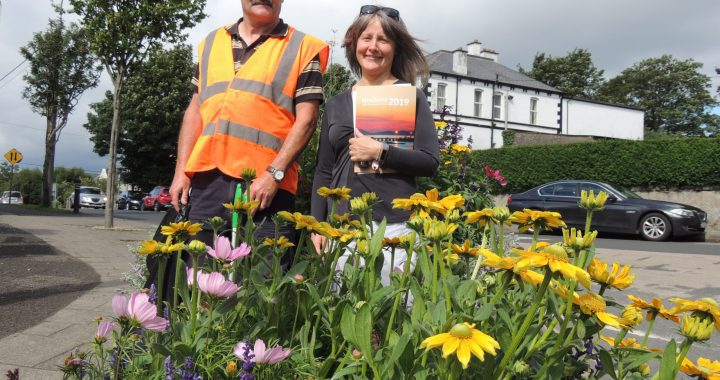 Buncrana Tidy Towns volunteers Willie McKinney and Sinead Ni Bhroin
