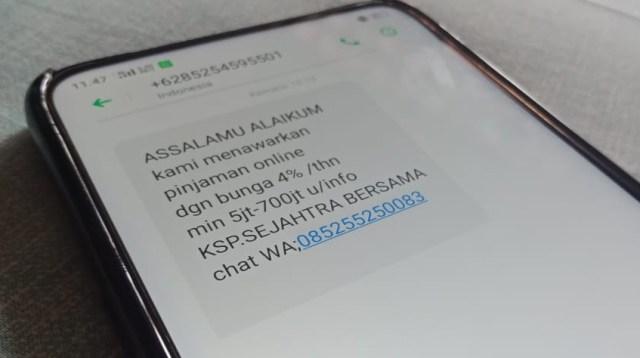Pesan Spam Pinjaman