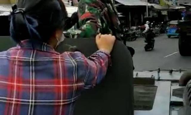 Kodam Jaya Sebut Wanita Baju Kotak kotak Naik Ranpur TNI adalah