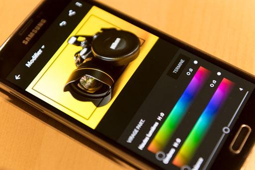 illustration des fonctionnalités des Smartphones à propos de la photographie.