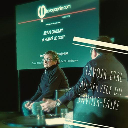 Jean Gaumy expose dans sa conférence que le savoir-être est au service du savoir-faire photographique.