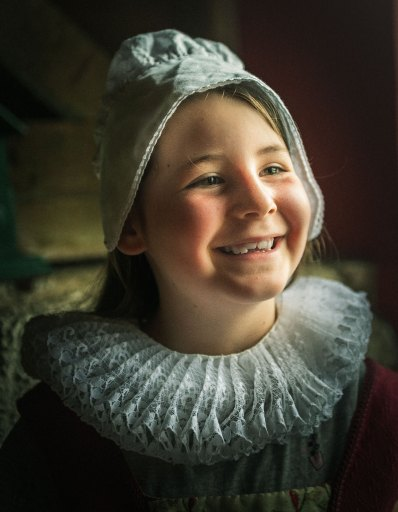 Photo portrait de ma fille en costume ancien