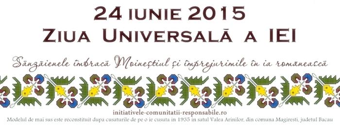 Ziua Universală a IEI sărbătorită pentru prima dată la Moinești