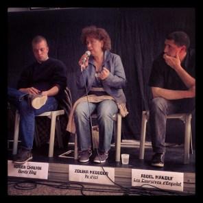 Adrien Chauvin (Bondy BLog), Zouina Meddour (Vu d'ici), et Abdel Makouf (Coursives)