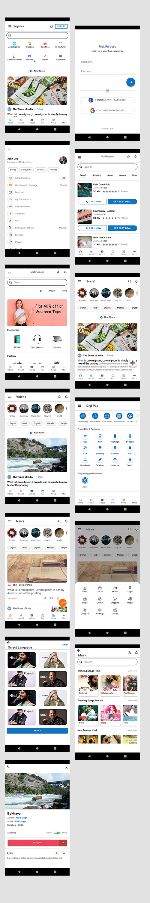 ionic 5 template bundle  / ionic 5 themes bundles / ionic 5 templates with 10+ apps - 7
