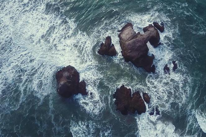 Splashing Wave on a Rock