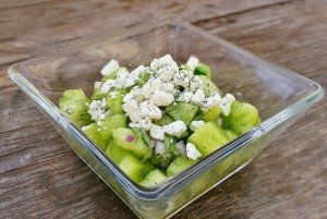 Honeydew Cucumber Salad with Feta
