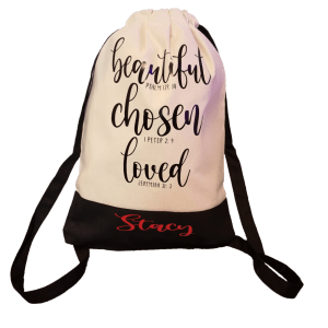 Personalized Canvas Sport Drawstring Bag