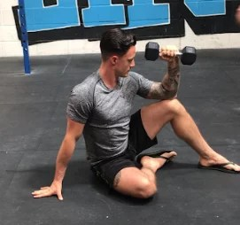 Eccentrically lengthening the shoulder to improve internal rotation