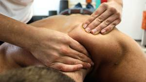 patient getting a deep tissue massage in tipperary