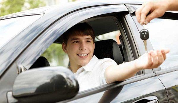Teen drives car through mall