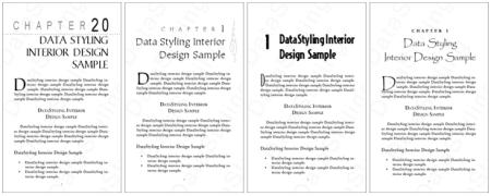 Sample designs from Filipino typesetter/designer