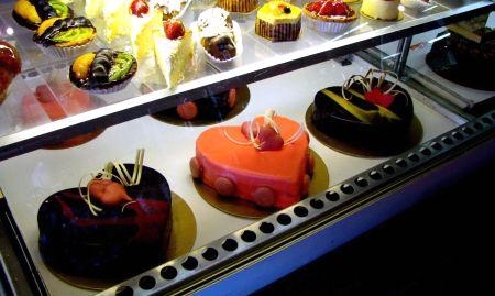 heart-shaped cakes