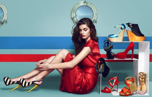 девушка обувь