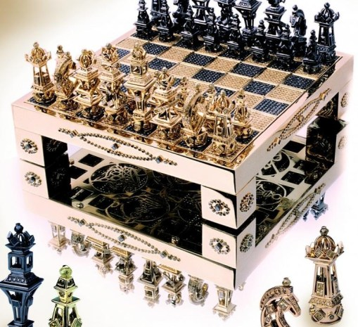 шахматы золото