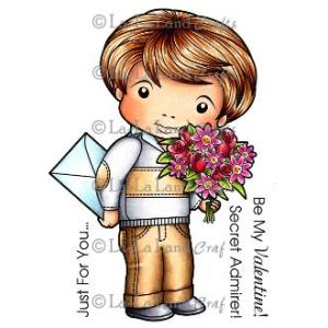 La-La Land Cling Mount Rubber Stamps Secret Admirer Luka