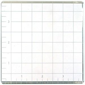 American Crafts Small Acrylic Block W/Grid 4″X4″