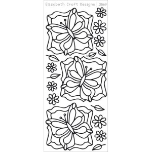 Butterfly Labels 1 Peel-Off Stickers – Silver