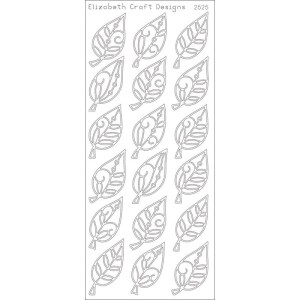 Elegant Leaves Peel-Off Stickers – Silver