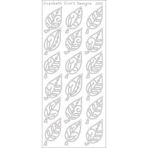 Elegant Leaves Peel-Off Stickers – Silver