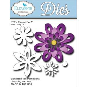 Elizabeth Craft Metal Die – Flower Set 2