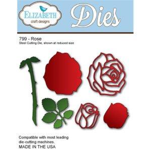Elizabeth Craft Metal Die – Rose