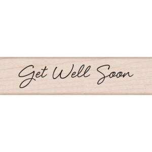 Hero Arts Mounted Rubber Stamps .5″X3″ Get Well Soon