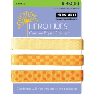 Hero Hues Ribbon 1yd 3/Pkg – Sunshine