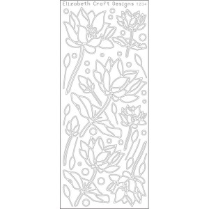 Lotus Flowers Peel-Off Stickers – Silver