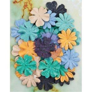 Seashore Flowers – Paper Mermaid 1.5″ To 2″, 36/Pkg