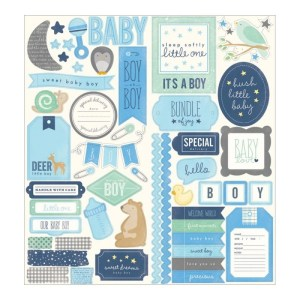 Special Delivery Boy Cardstock Stickers 6″X12″ 2/Sheets – Phrase & Accent