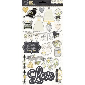 The Story Of Us Chipboard Stickers 6″X12″