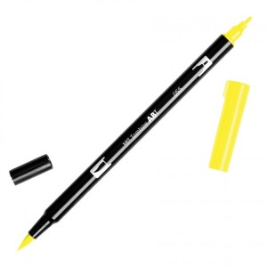 Tombow Dual Brush Marker – 055 Process Yellow