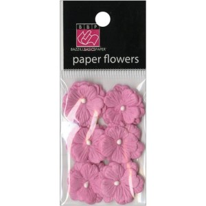 Vintage Marketplace Layered Paper Flowers .75″ 6/Pkg Pink