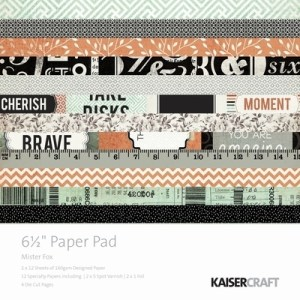 Kaisercraft Mister Fox Paper Pad 6.5″x6.5″