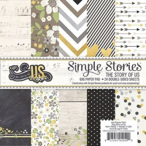 Simple Stories – 6 x 6 Paper Pad – The Story of Us