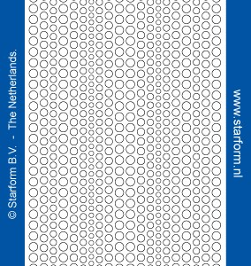 Starform Glitter Stickers 7018 – Red/Gold