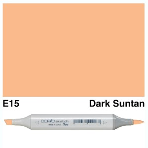 Copic Sketch E15-Dark Suntan