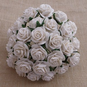 Wild Orchid Crafts White Mulberry Paper Open Roses