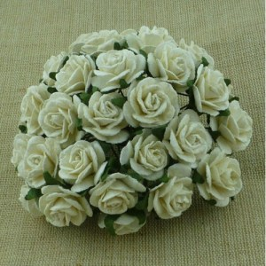 Wild Orchid Crafts Ivory Mulberry Paper Open Roses