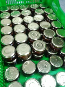 Cooling production of jams.