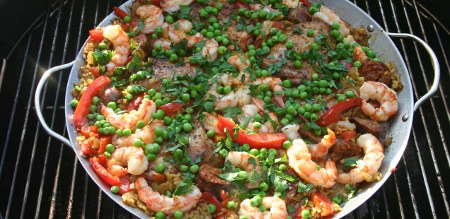 Paella On The Grill, Sangria In The Glass