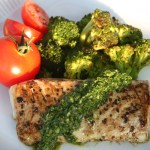 Salt Block Grilled Cod With Verde Sauce