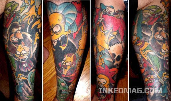 Treehouse of Horrors Tattoo Celebrate 20 Years of The Simpsons with 20 Tattoos