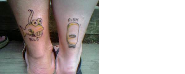 fishbulb tattoos Celebrate 20 Years of The Simpsons with 20 Tattoos