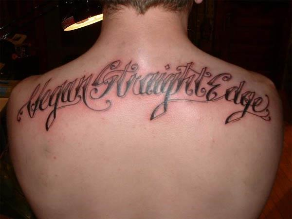 Vegan Straight Edge Back Tattoo Vegan Tattoos Are Hardcore